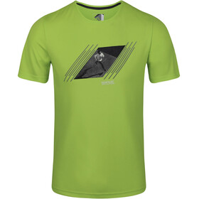 Regatta Breezed Camiseta Hombre, electric lime